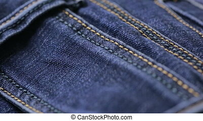 Blue jeans texture. can use as background. close-up of denim