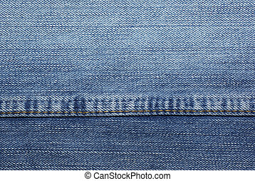 Blue jeans with yellow stitches as background or backdrop.