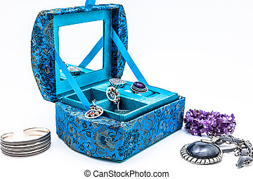 Blue jewel box