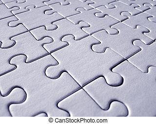 Blue jigsaw pattern - Blue jigsaw background