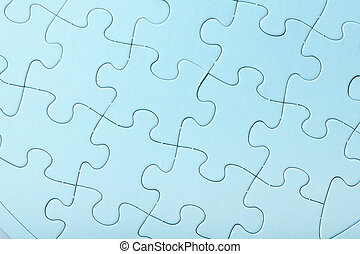 Blue Jigsaw puzzle close up