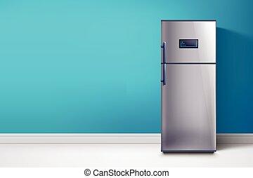 blue közfal, hűtőgép