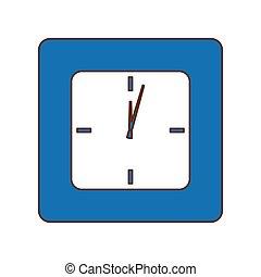 blue közfal, kép, óra, ikon