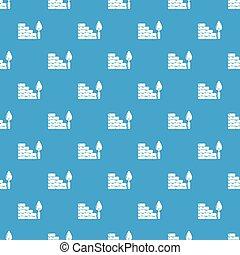 blue közfal, motívum, seamless, vektor, tégla