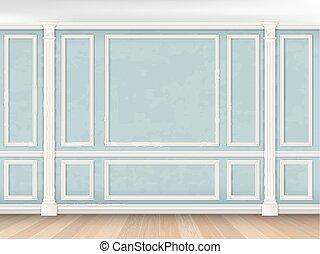 blue közfal, pilasters