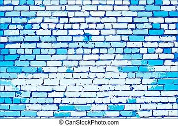 blue közfal, tégla