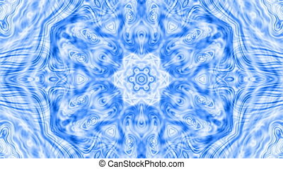 blue kaleidoscope ornament, video animation - Blue video...