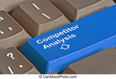 Blue key for competitor analysis