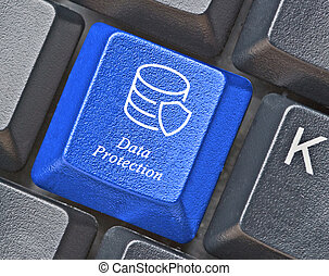 Blue key for data ptotection