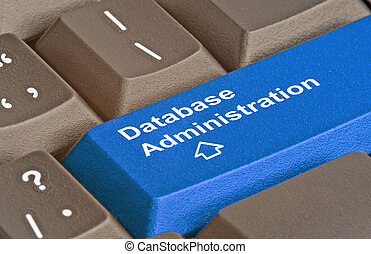 Blue key for database administration
