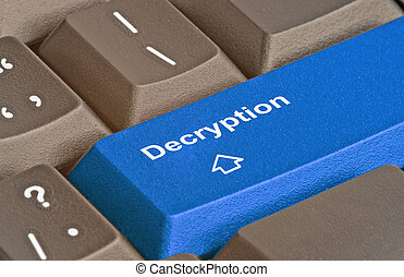 Blue key for decryption