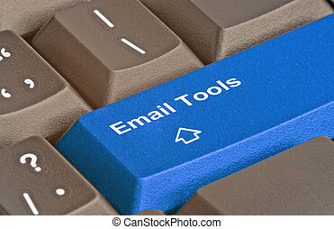 Blue key for Email tool