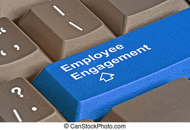 Blue key for employee engagement