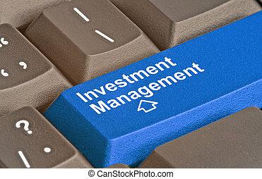 Blue key for investment management