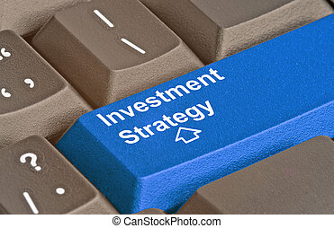 Blue key for investment strategy