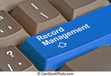 Blue key for record management