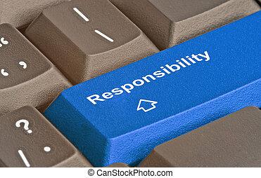 Blue key for responsibility