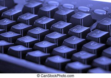Blue Keyboard - selective focus.