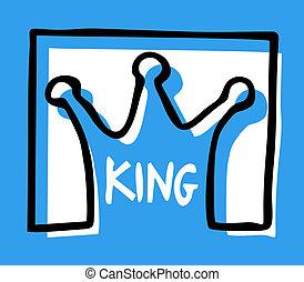 Blue king - Creative design of blue king