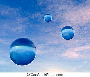 blue kristály, égitestek