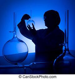 Blue lab silhouette