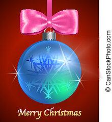 blue labda, sima, kártya, karácsony