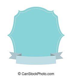 blue label decoration ribbon