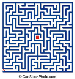 Blue labyrinth - Big blue labyrinth