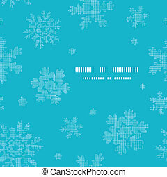 Blue lace snowflakes textile template frame seamless pattern background