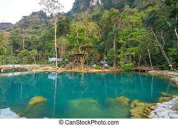 blue lagoon 2 vang vieng Water activities at Laos