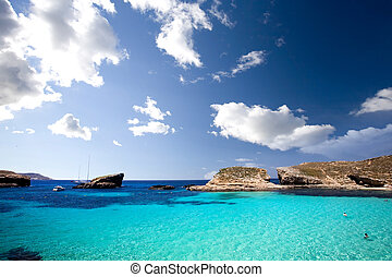Blue Lagoon - Blue lagoon in Malta on the island of Comino