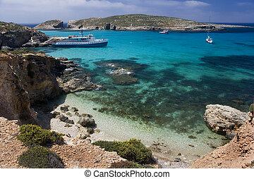 Blue Lagoon - Comino - Malta - The Blue Lagoon on the tiny ...