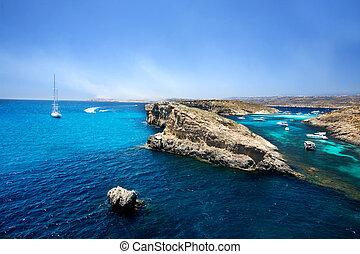 Blue Lagoon, Comino - The Blue Lagoon in Comino, Malta