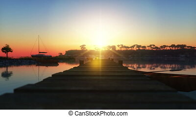 blue laguna sunset