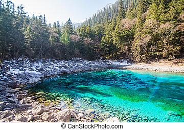 Blue lake Jiuzhaigou