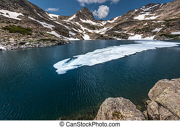 Colorado Indian Peak Wilderness Blue Lake Mt Toll