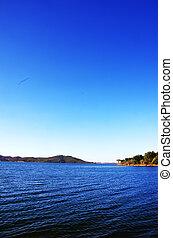 Blue lake of Alqueva, Portugal