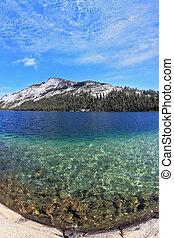 Blue lake. Photo taken fisheye lens - The majestic American...