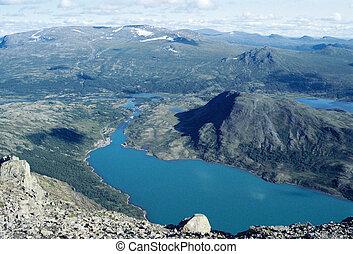 Blue lakes in Norway