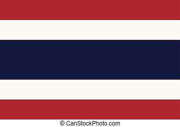 blue), land, nationale vlag, (red, witte , thailand