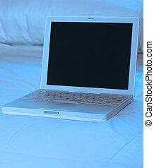 blue laptop