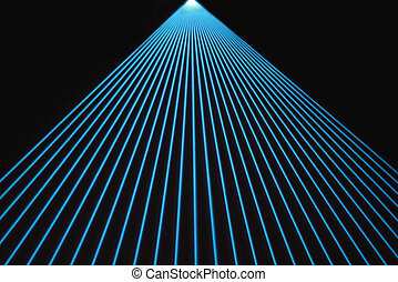Blue Laser Beams - Fan of blue laser beams