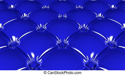 Blue latex pattern looping 3D animation