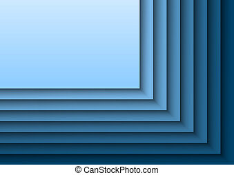 Blue Layeres - Blue background as many layers. Vector...