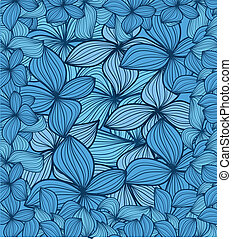 Blue leaves abstract background