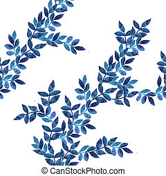 Blue leaves ornament