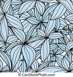 Blue leaves seamless background