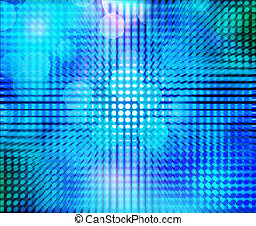 Blue LED Abstract
