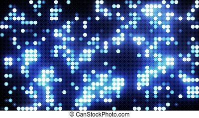 Blue led animated VJ background