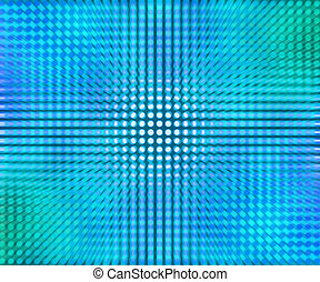 Blue LED Dots Abstract Background